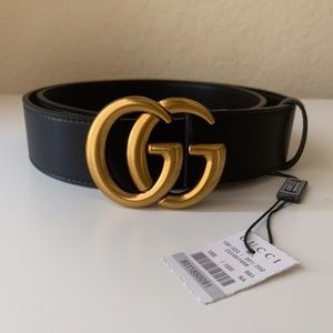 łNew Gucci GG Belt Âüthentíć Double G Marmot
